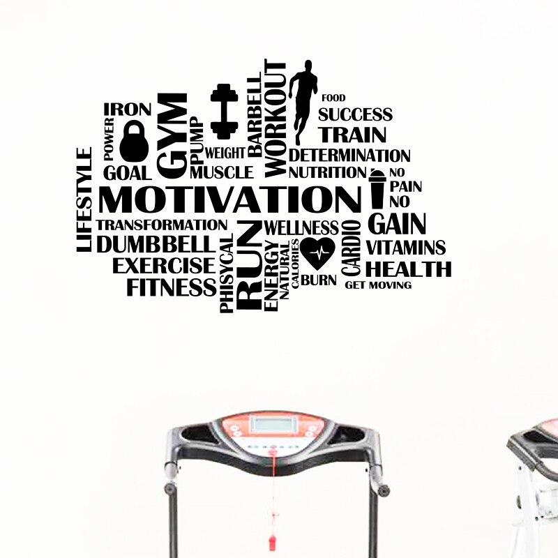 Gym Kata Kata Motivasi Dinding Kebugaran Olahraga Vinyl Stiker Dinding Dekorasi Rumah Gym Bekerja Hiasan Dinding Wall Stickers Aliexpress
