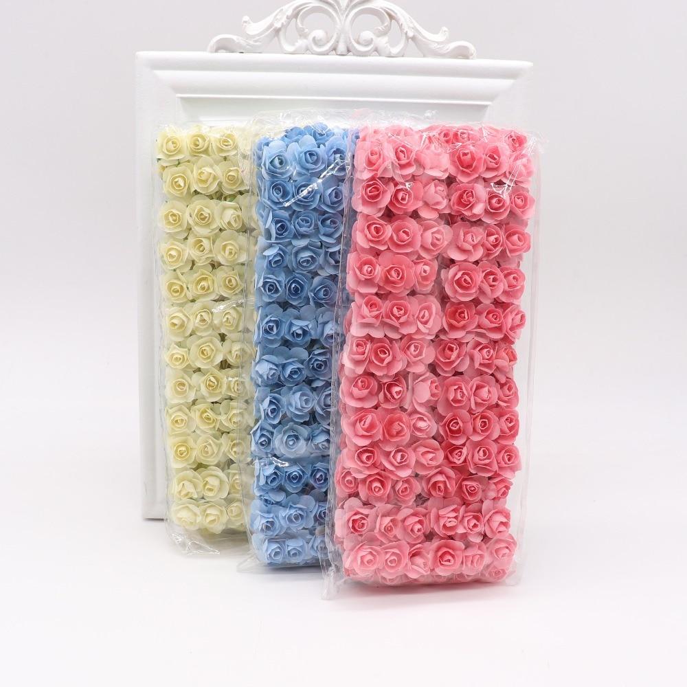 144pcs-1-5cm-Mini-Artificial-Mini-Paper-Rose-Bouquet-DIY-Wreath-Scrapbook-Wedding-Ornament-Artificial-Rose(2)