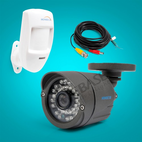HOMSCUR Outdoor IR Night Camera 3 6mm Lens for CCTV Security Surveillance DVR with Wired PIR