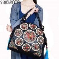 2016 New Fashion Spain Bolsos Desigues Embroidery Women Messenger Bags Vintage Shoulder Crossbody Bags Sac A
