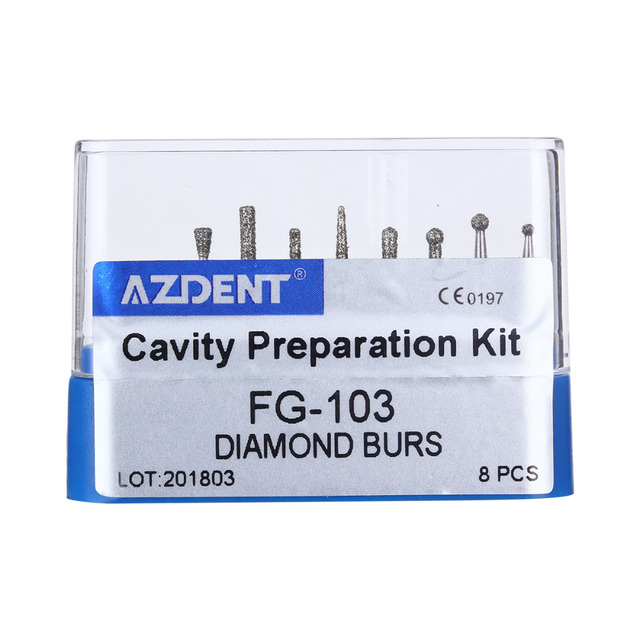 Dental Diamond Burs Drill for High Speed Handpiece Dentist Burs FG series Dia.1.6mm 5