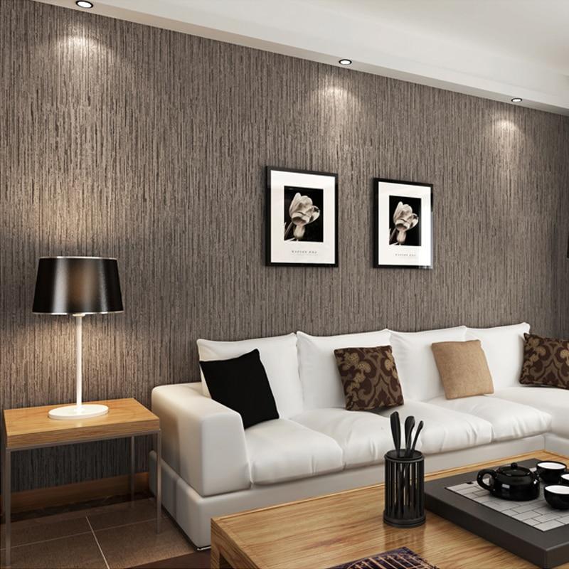 Modern Minimalist Pure Solid Color Wood Grain Non-woven Wallpaper Papier Peint Mural Living Room Study Bedroom Wall Decor Paper