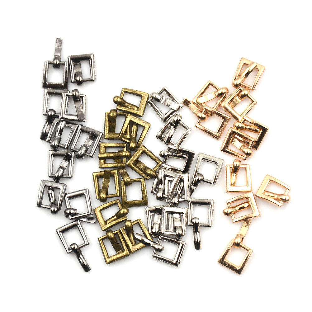 10PCS 4MM Diy Bjd Blyth Doll Buckle Mini Ultra-small Japanese Word Buckle Belt Buckle Shoes Accessories 100pcs mini button buckle blyth doll clothing accessory tri glide 3 mm ultra small belt buckle doll clothes buttons shoes buckle