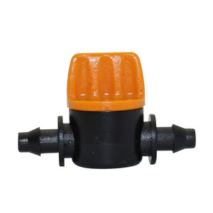 Mini Valve with 4/7mm Hose Garden Irrigation Barbed Water flow control valve Agriculture tools Drip Irrigation Fittings 10 Pcs(China)