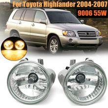 Пара левый и правый передний Прозрачный бампер вождения Противотуманные фары для Toyota Highlander 2004 2005 2006 2007