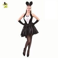 Sexy Bunny Set Costumes Girl Rabbit Costumes Women Cosplay Sexy Halloween Adult Animal Costume Fancy Clubwear Dress
