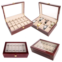 2020 Luxury 12 Grids Handmade Wood Watch Box Wood Clock Box Watch Case Time Box for Watch Holding