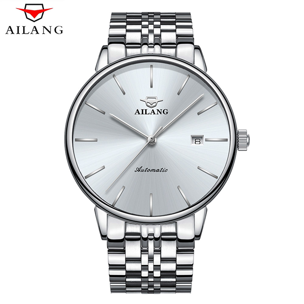 Relogio Masculino AILANG Ultra-thin Mens Automatic Mechanical Watches Men Military Sport Diving 50m Watch Male Clock Wristwatch relogio masculino binkada skeleton mens automatic mechanical watches men military sport luminous watch male clock wristwatch