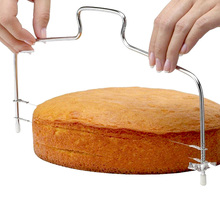 Stainless Steel Layer Cake Slicer DIY Bread Cutter Leveler Set Fixator Tools Decorating Tool Kitchen Accessorie