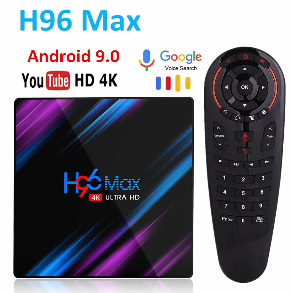 H96 MAX Smart tv Box Android 9,0 4 Гб ОЗУ 32 ГБ/64 Гб ПЗУ Rockchip RK3318 4 K USB3.0 H.265 Google Play IP tv set top box PK tx3 mini
