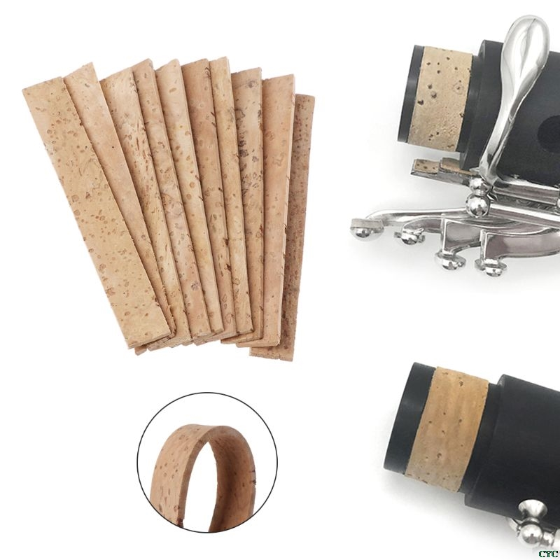 10pcs Clarinet Cork Bb Joint Corks Sheets For Saxophones Musical Instruments 81*11*2mm