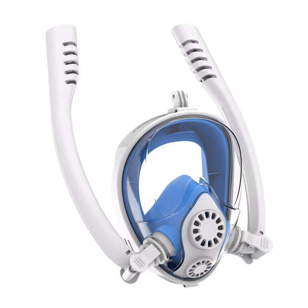 Adultes enfants Vision claire adulte Anti-buée visage complet masque de plongée en apnée respiration libre natation formation masque de plongée