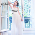 Summer Beach White Maxi Dress Women Sleeveless Spaghetti Strap Vintage Casual Dress for Women Sexy Ladies Long Dresses Vestidos
