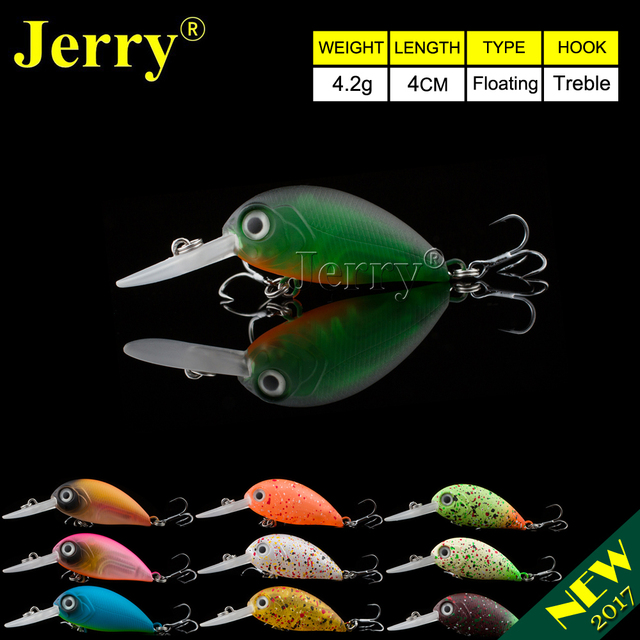 Jerry 4cm floating DR wobbler fishing lure hard plastic lures deep diving crankbait finesse fishing