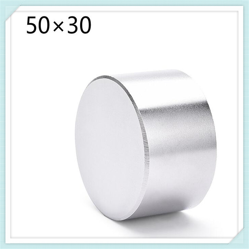 1pcs super powerful Dia 50mm x30mm neodymium magnet <font><b>50x30</b></font> disc magnet rare earth NdFeB N35 magnets 50*30mm image