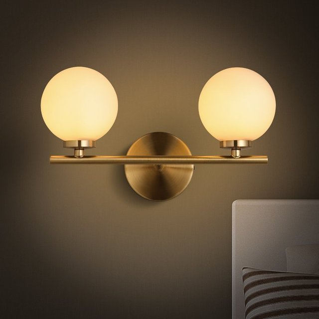 moderne mur lampe en verre applique luminaire boule lumi re luminaria abajur pour salle de bains. Black Bedroom Furniture Sets. Home Design Ideas