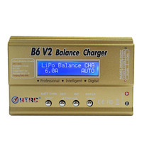 HTRC B6 V2 80W 10A Digital RC Battery Balance Charger Discharger For LiPo Battery For RC