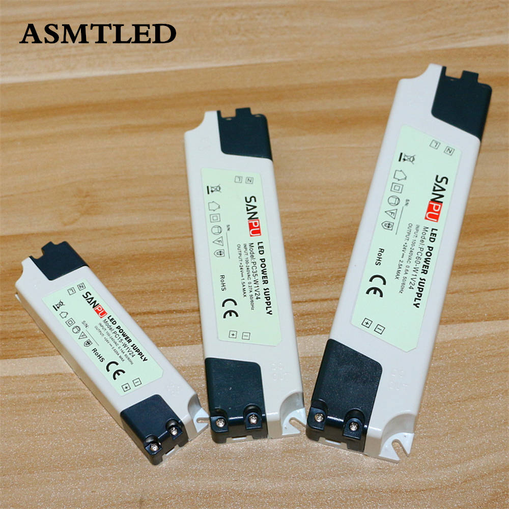 ASMTLED <font><b>LED</b></font> Driver Power Supply AC 100V 110V 120V 127V <font><b>220V</b></font> 230V to DC 24V <font><b>15W</b></font> 35W 60W <font><b>LED</b></font> Strip Adapter Lighting Transformers image