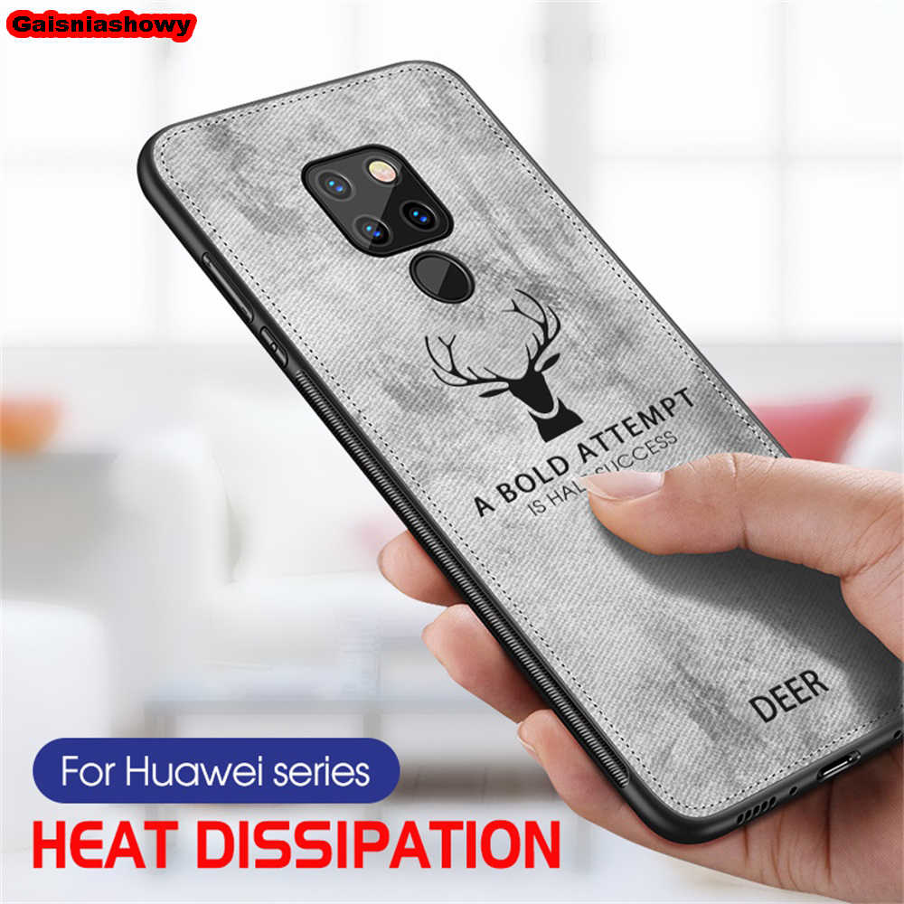 Case For Huawei Mate 20 Pro P20 P30 Lite P Smart 2019 Honor 8X 8C 8A 9 10 Lite Nova 3 3i 4 5 5i Pro Deer Cloth Phone Case Cover
