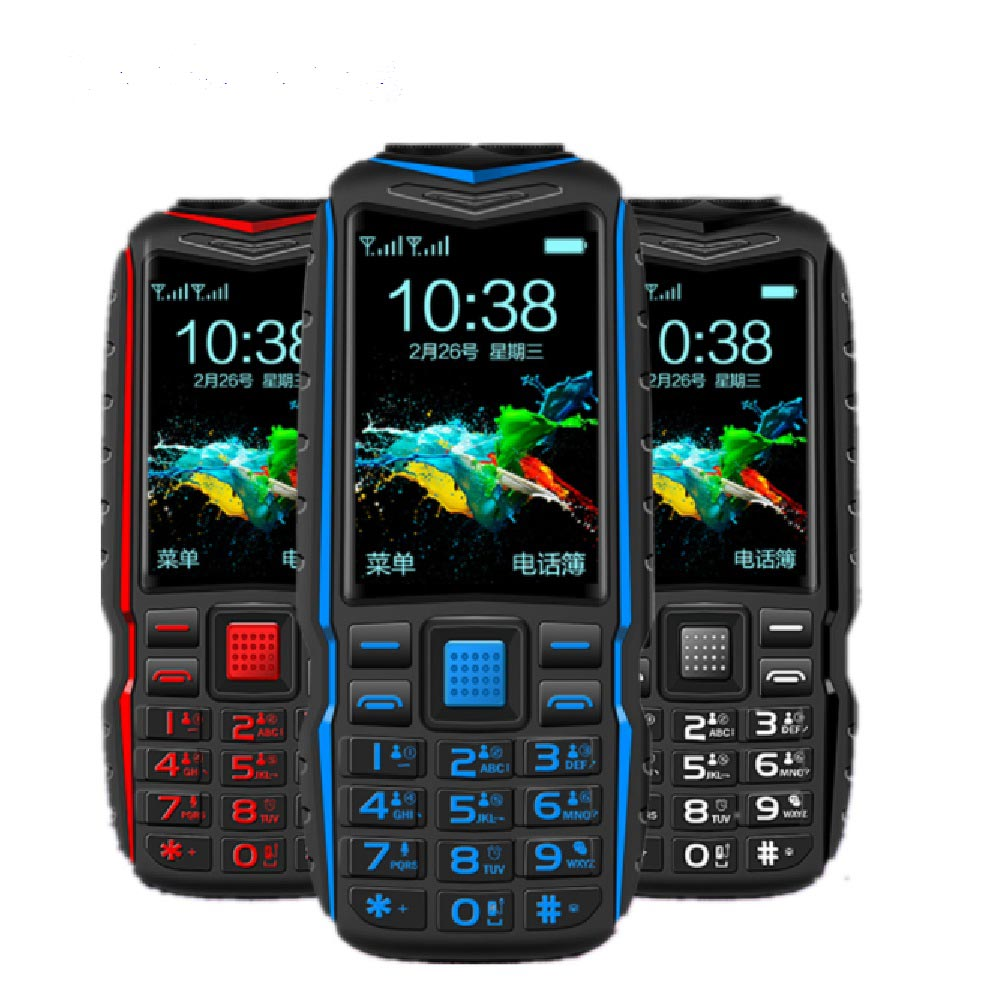 KUH GSM Qwerty Keyboard New Power-Bank Rugged Cellphone Dual-Flashlight Shockproof Outdoor title=