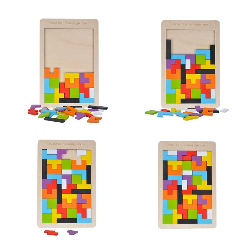 Балалар ойыншықтары Ағаш Tangram / Jigsaw Board - Ойындар мен басқатырғыштар - фото 2