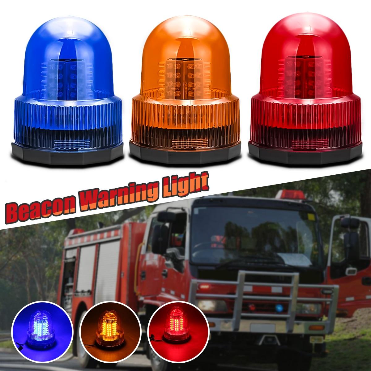 72LED Side Marker Reserving Light Universal For 12V Trucks Trailers Cars Boats Flashing Beacon Warning Light Vortical Flashlight