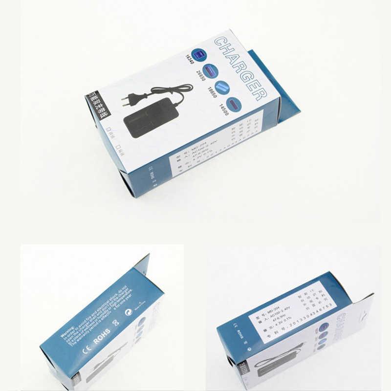 1 шт. перезаряжаемая батарея два слота линии зарядки батареи ЕС Plug авто остановить зарядки 26650 в 18650 16340 14500 3,7 li-ion