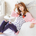 women suit pajamas cotton long sleeved autumn postpartum lactation clothes  section maternal feeding Mickey Mouse