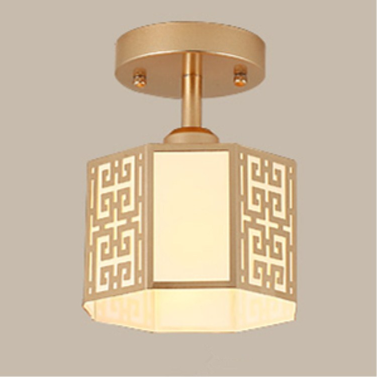 Chinese style e27 ceiling lamp living room bedroom lamp atmosphere warm restaurant hotel antique iron ceiling light ZA923556