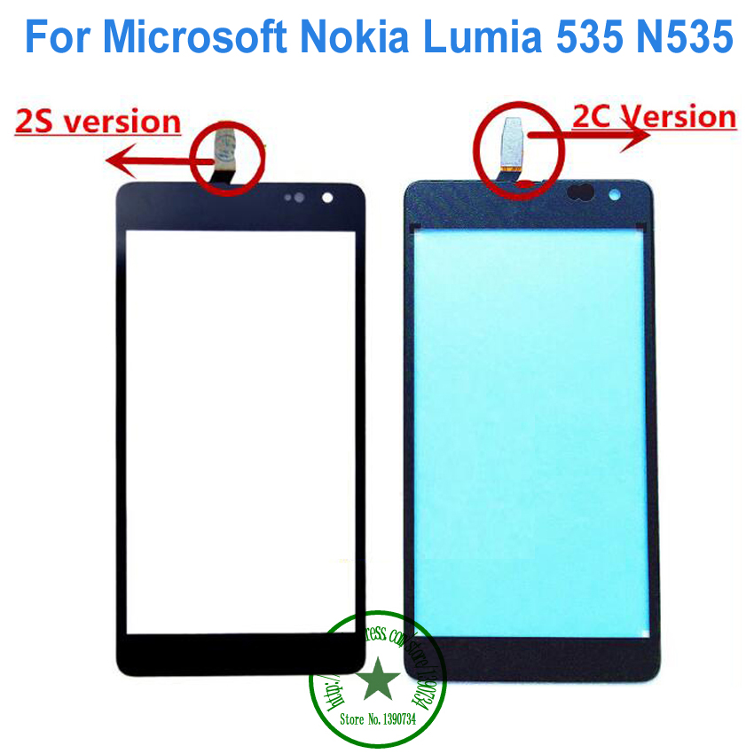 Touch Screen Digitizer Glass Panel For Microsoft Nokia Lumia 535 N535 2s 2C Version CT2S1973FPC-A1-E CT2C1607FPC-A1-E With Logo