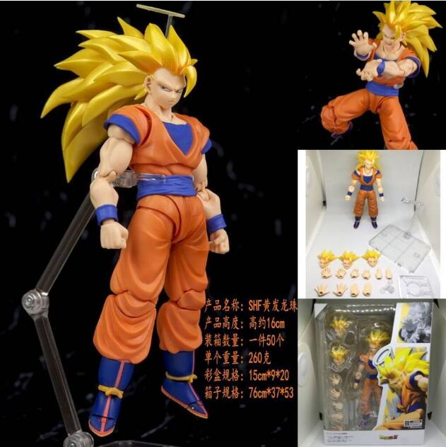 16cm Dragon Ball Z Joints moveable Goku Anime Action Figure PVC New Collection figures toys Collection for Christmas gift 12cm one piece silvers rayleigh anime action figure pvc new collection figures toys collection for christmas gift with box