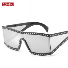 OFIR 2019 Oversized Shield Sunglasses One Piece Lens Big Vin