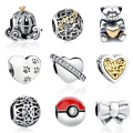 100% 925 Sterling Silver European Pumpkin Car,Paw Print Heart Charms Fit Pandora Bracelet Necklace Original Jewelry Accessories