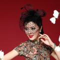 FW12 Beautiful Black/White/Red/Pink/Purple  Birdcage Bridal Flower Feathers Fascinator Bride Wedding Hats Face Veils