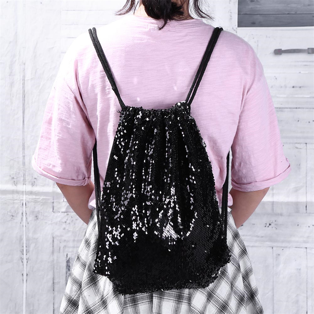 Women Backpack Casual Double Color Sequins Chest Bag Shoulder Bag Travel Bagpack Shiny Mochila Pequena Feminina Vintage Backpack