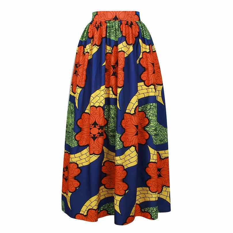 Afrika giysi kadın etek afrika pamuk Ankara baskı balmumu yüksek kalite Maxi etek
