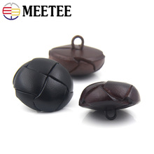 5pcs 15-25mm Hand-knitted Leather Buttons DIY Jacket Coat Button Decorative Buckle Craft Sewing Clothing Accessories BD313