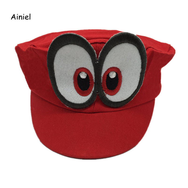 Ainiel Game Super Mario Odyssey Cap Red Adjustable Cotton Baseball Caps Unisex Leisure Sun Hats For Women Men Girl and Boys