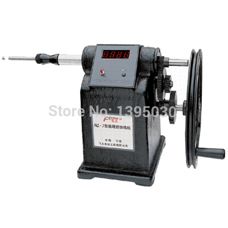 цена на NZ-7 New Manual Hand Coil Counting Winding Winder Machine for thick wire 2.5mm