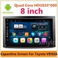 8 polegada Capacitiva Carro DVD player para Toyota Venza Android Quad Core Rádio RDS Bluetooth WI-FI embutido de Áudio GPS PC mídia