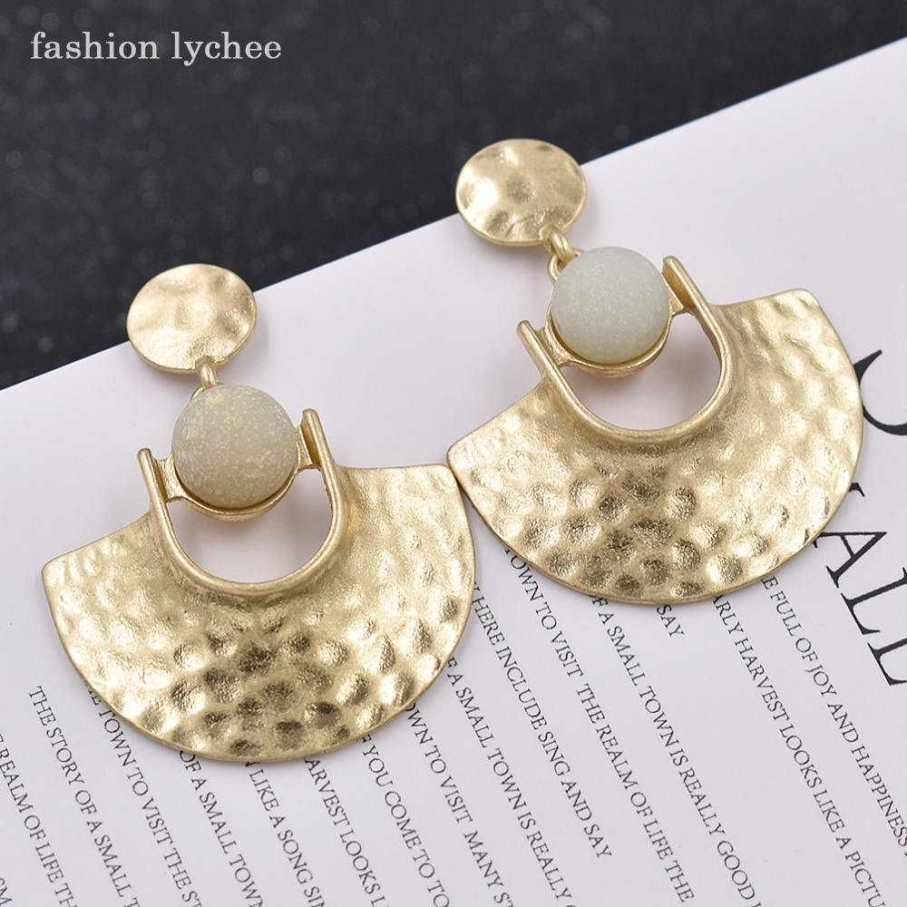 New Fashion Arrivals Wedding Jewelry Awesome Design: Fashion Lychee New Arrival Alloy Stone Beads Dangle
