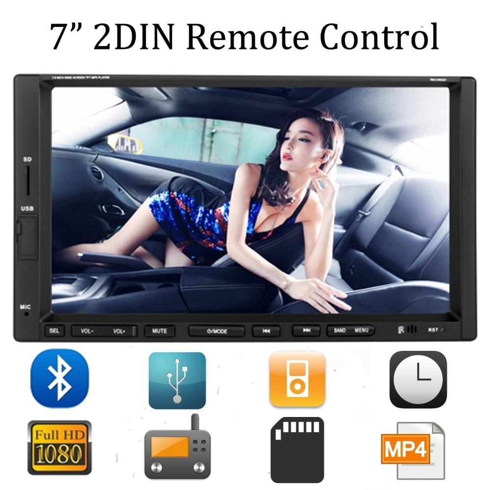 ФОТО 7'' Car Bluetooth Stereo FM Radio MP3 MP5 DVD Multimedia Player 2 Din Support USB CD AUX Drive Handsfree Call