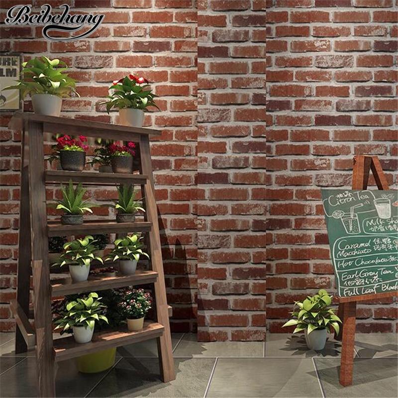 Beibehang Retro Nostalgic 3D Stereo Facing Brick Wall