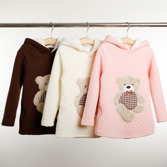 3-10years Long Sleeve sweatshirt hoodies coat thickened baby kids children girls boys Clothes Infant spring autumn winter