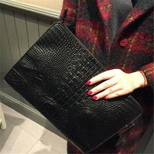 Image 3 - New Brand Crocodile Pattern Day Clutches PU Leather Envelope Women Messenger Bag Praty Evening Bag Handbags Purses