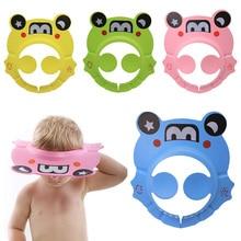 Safe Shampoo Cap Shower Bathing Bath Protect Soft Cap Hat For Baby Wash Hair Shield Bebes Children Bathing Shower Cap Hat Kids