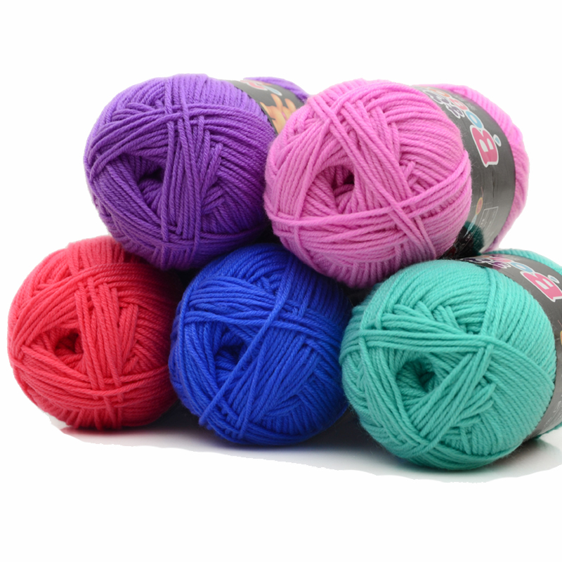 Crochet Patterns For Cotton Yarn : Aliexpress.com : Buy Soft Skin Friendly Milk Cotton Yarn ...
