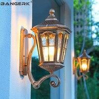 Европейский водостойкий настенный светильник светодиодный Светодиодный литой алюминиевый стеклянный светильник Настенный бра освещение