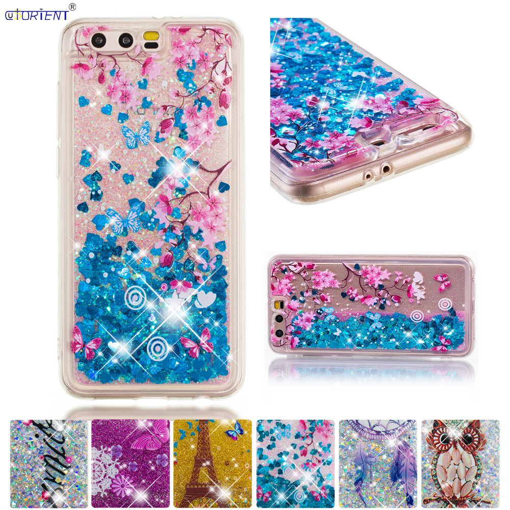 Cellphones & Telecommunications Sincere Bling Glitter Case For Huawei Honor 9 Stf-l09s Dynamic Liquid Quicksand Fitted Cover Huawei Honor9 Stf-l09 Silicone Phone Funda Quality First