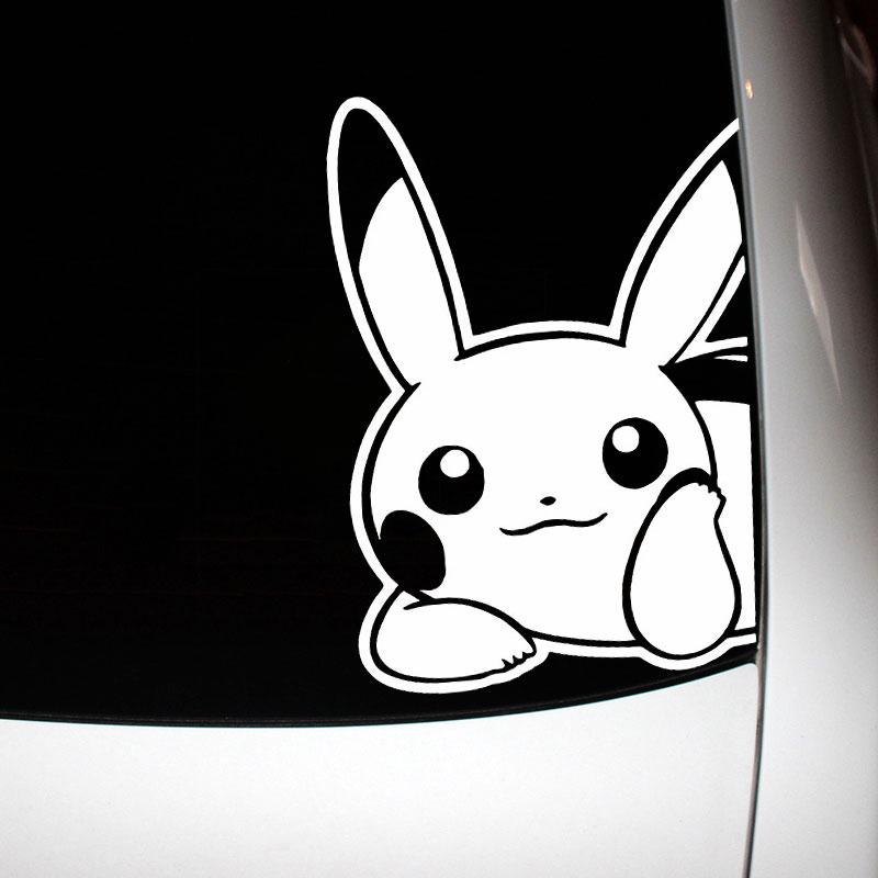 Pikachu Car Sticker Vinyl Funny Creative Decals Cartoon Stylish Automotive Products Cars Styling Waterproof Window Laptop Decor